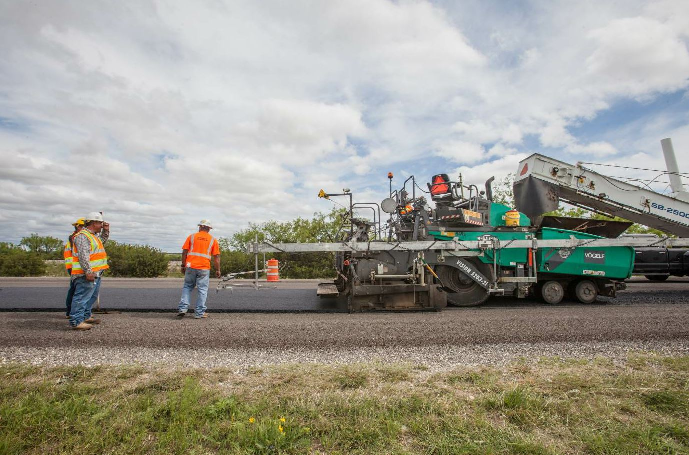 Each sub lot was approximately 400 tons, paved 2 inches compacted, produced at 275 degrees F.