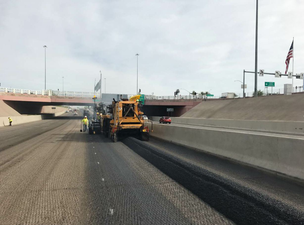 In Arizona, the freeway is often shut down during mill and overlay projects, and the public uses alternative routes instead.