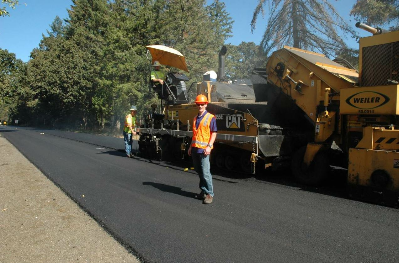 Hickey visits more than 20 asphalt projects each year.