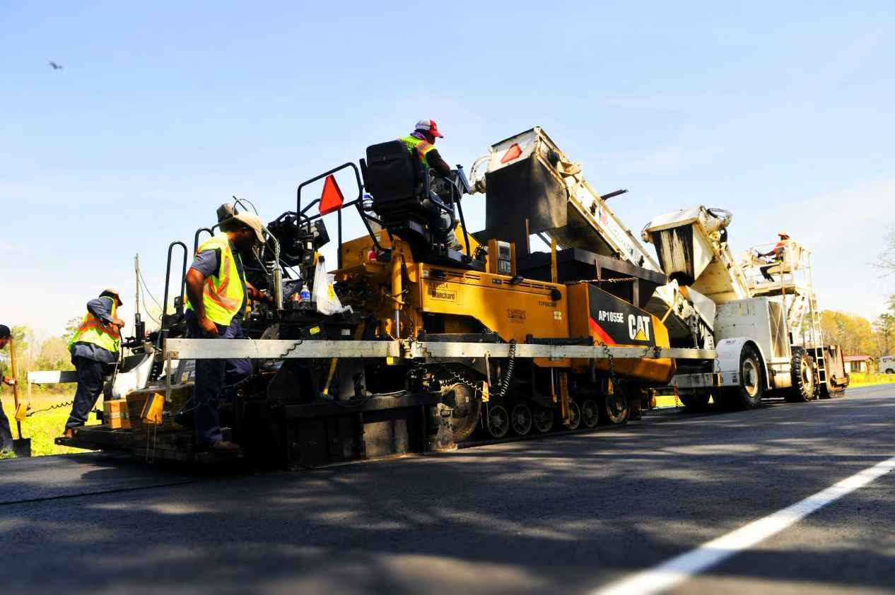 About 90 percent of the asphalt Sanders produces is used by its own crews, on projects ranging from small parking lots and large warehouses to county and DOT work.