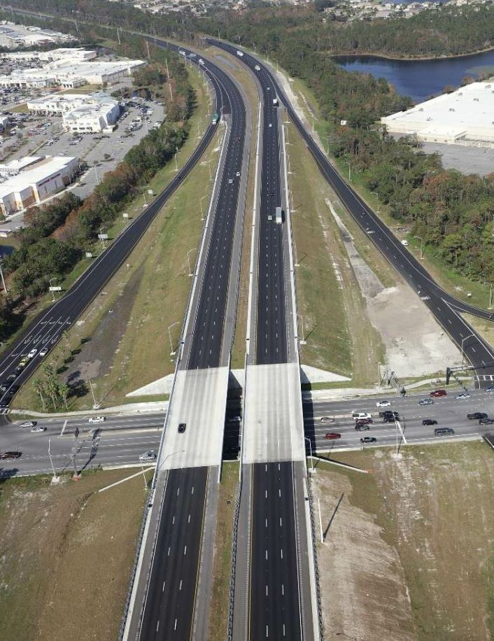 P&S Paving's crew performed the paving on the 10.5 miles from S.R. 44 to south of I-4 that were completed by November 2017. Both photos courtesy FDOT Public Involvement