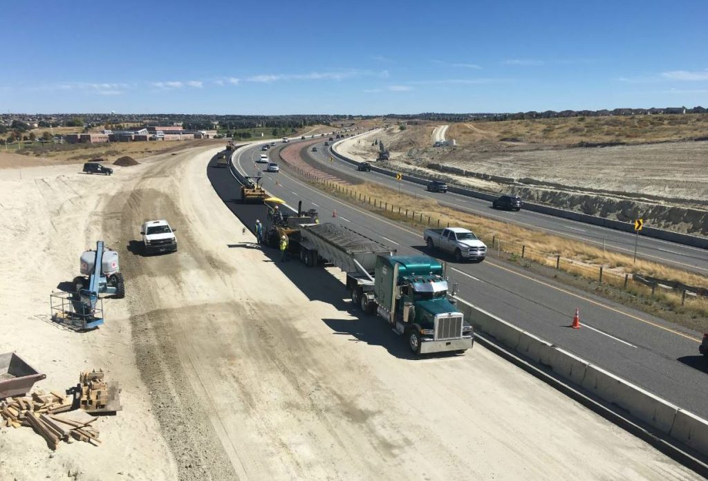 Although the end result of this project was the addition of a third travel lane in each direction, Kraemer and its subcontractors also performed the grading, earthwork and drainage needed to eventually add a fourth lane of travel in each direction for a total width of eight lanes.