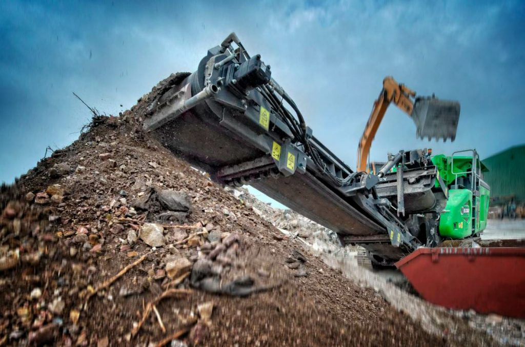 The Cobra 230 has a small footprint for crawling and crushing on tight jobsites.