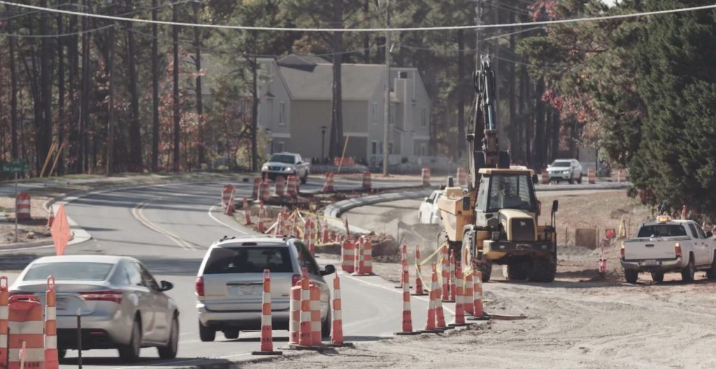 Sandy Forks Road was originally built in the 1970s as a two-lane connector road in North Raleigh. Over time, homes and businesses began to develop alongside the 1.5-mile-long corridor.
