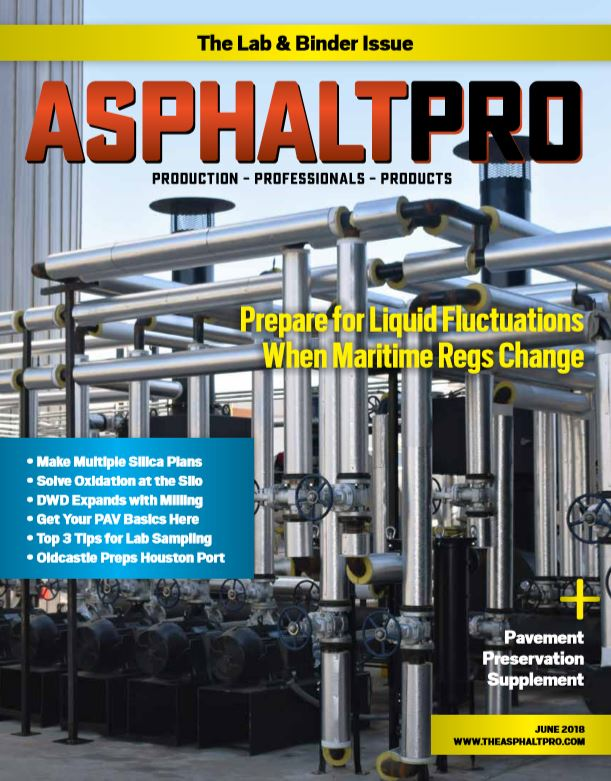 The June 2018 issue of AsphaltPro was mailed to subscribers at the end of May.