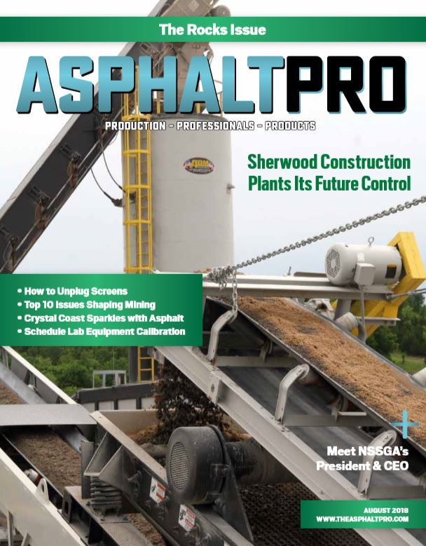 The August issue of AsphaltPro