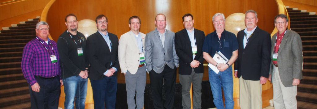The 2018-2019 ARRA board of directors, pictured from left: Ron Wilson, Jonathan Pease, Jason Wielinski, Eric Baker, Darren Coughlin, Ryan Essex, Mike Marshall, David Peterson, Steve Cross. Not pictured: Kimbel Stokes. Photo courtesy Tom Kuennen, FP2