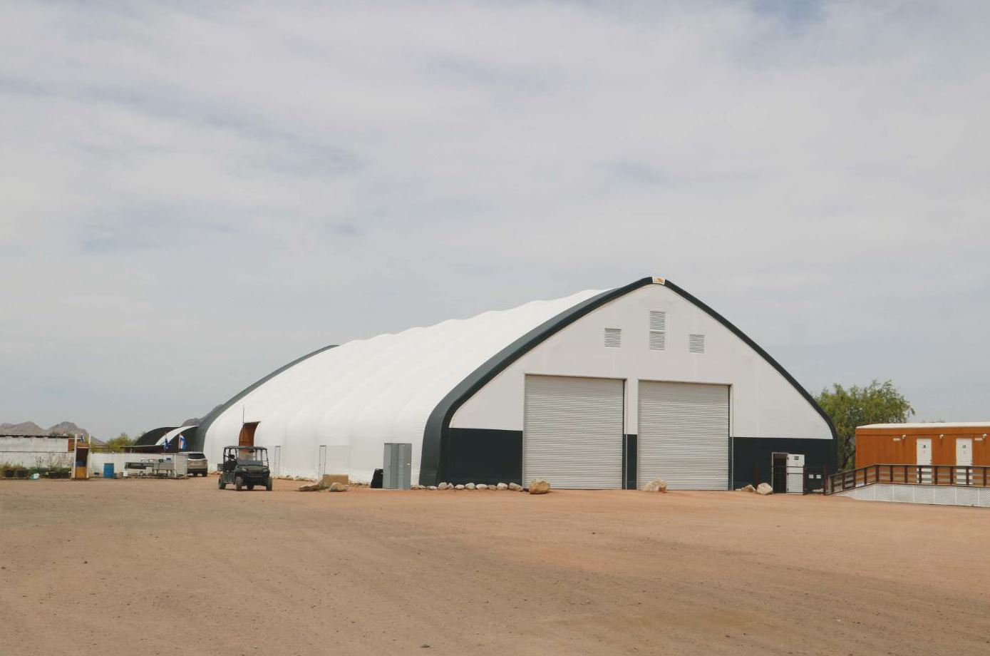 Fabric buildings, no matter their size or shape, keep air clean, fresh and, most importantly, dry. The building manufacturers offer a variety of roof designs, sizes and styles to accommodate any size or quantity of aggregate storage.