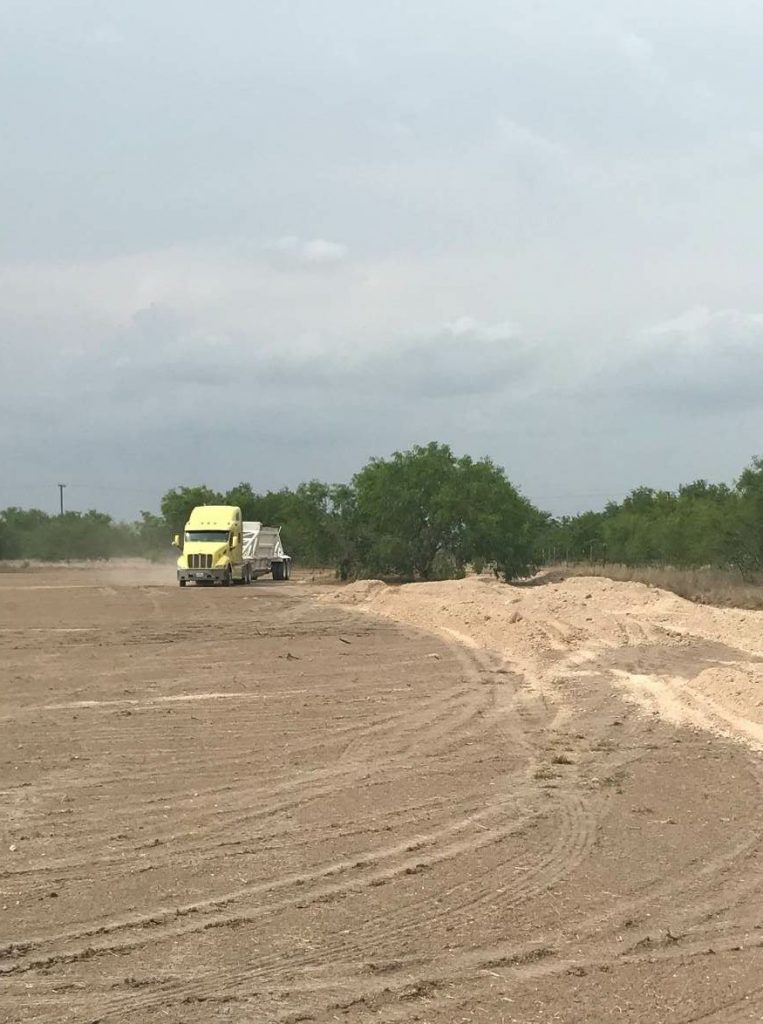 Texas Cordia Construction receives salvage for preparation of the new plant site.