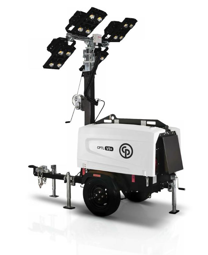 Chicago Pneumatic Power Technique has introduced five new light towers to the North American market in 2018. Photo courtesy CP