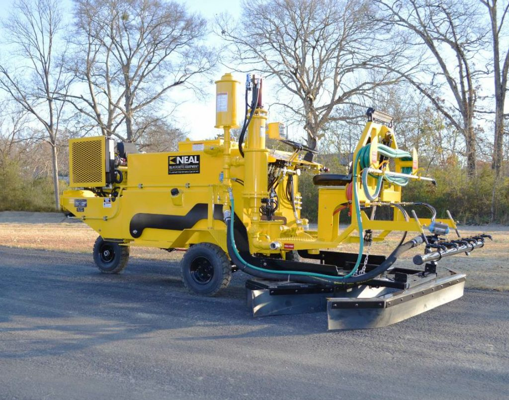 The Neal Manufacturing DA-350 offers Southeast Asphalt a ride-on squeegee.