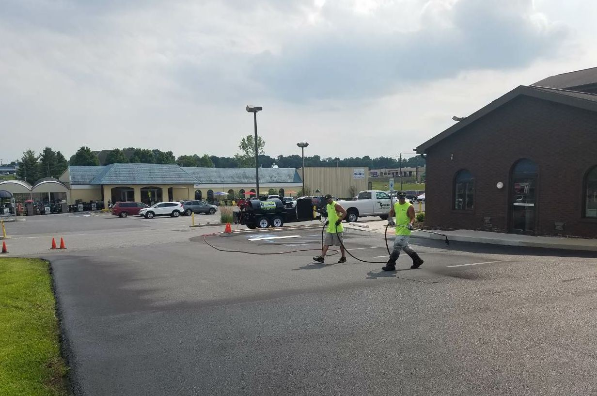The 575-gallon tank has enabled RS Asphalt to accept larger sealcoating projects.
