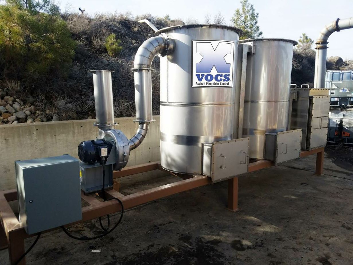 The X-VOCS asphalt plant odor control system from Butler-Justice was introduced in 2017.