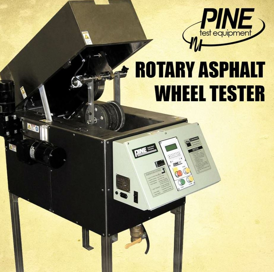 The Rotary Asphalt Wheel Tester from Pine has more than 14 years of proven performance with the City of Los Angeles.