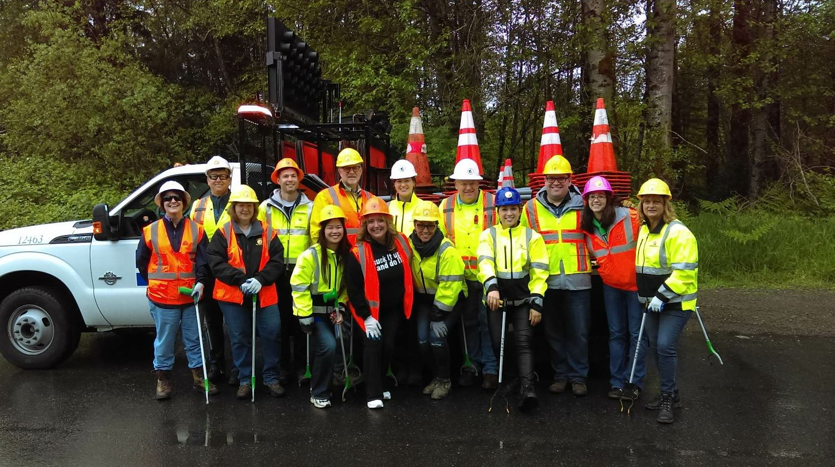 Volunteers from Lakeside participate in community events such as Adopt-a-Highway cleanup efforts.