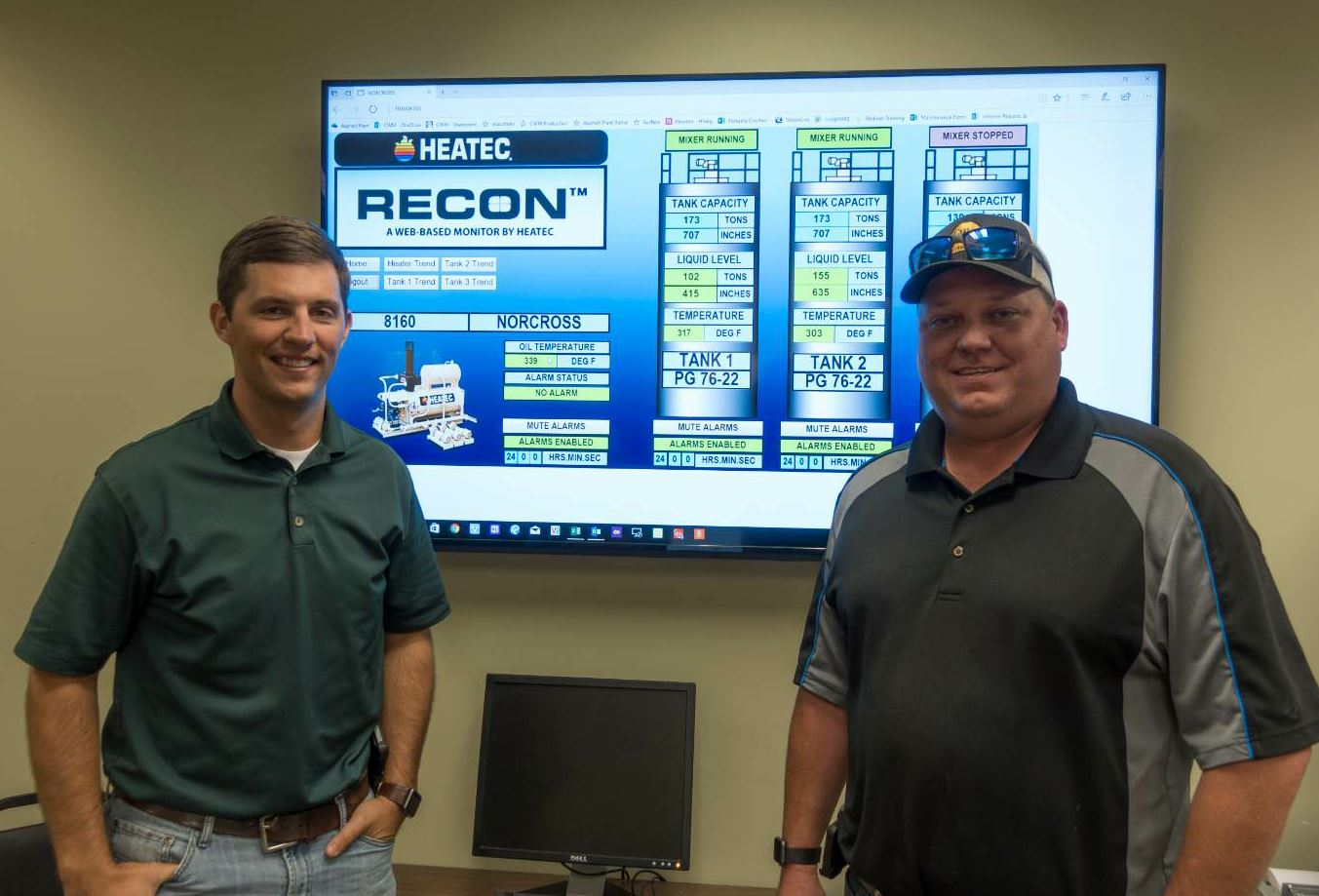 Joe Hines (left) and Will Wetherbee (right) spoke highly of the efficiency the Recon system has brought to operations.