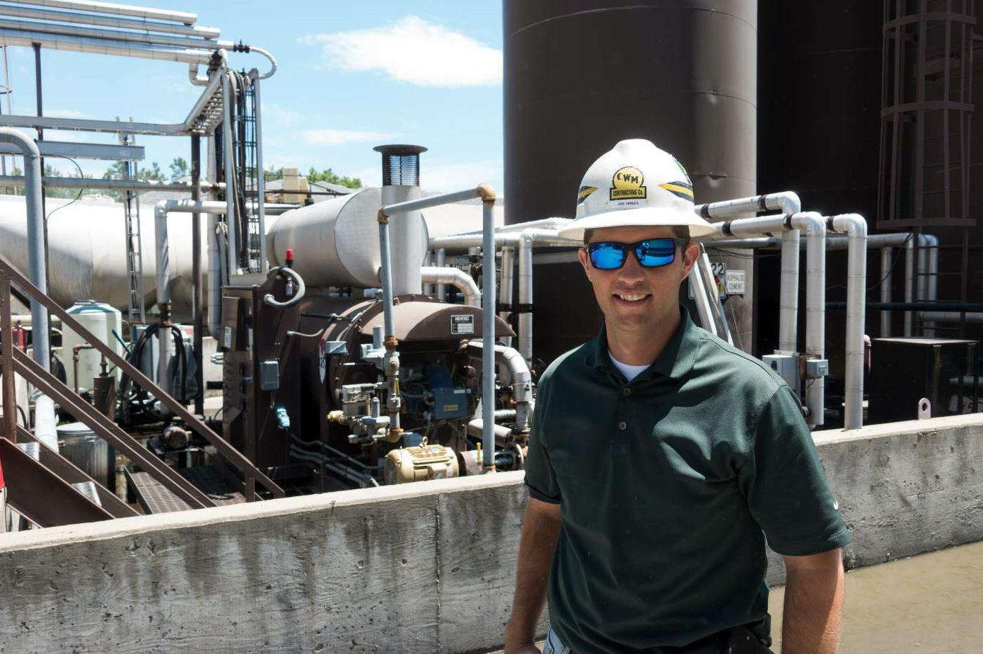 Joe Hines is the superintendent of asphalt plants for C.W. Matthews.