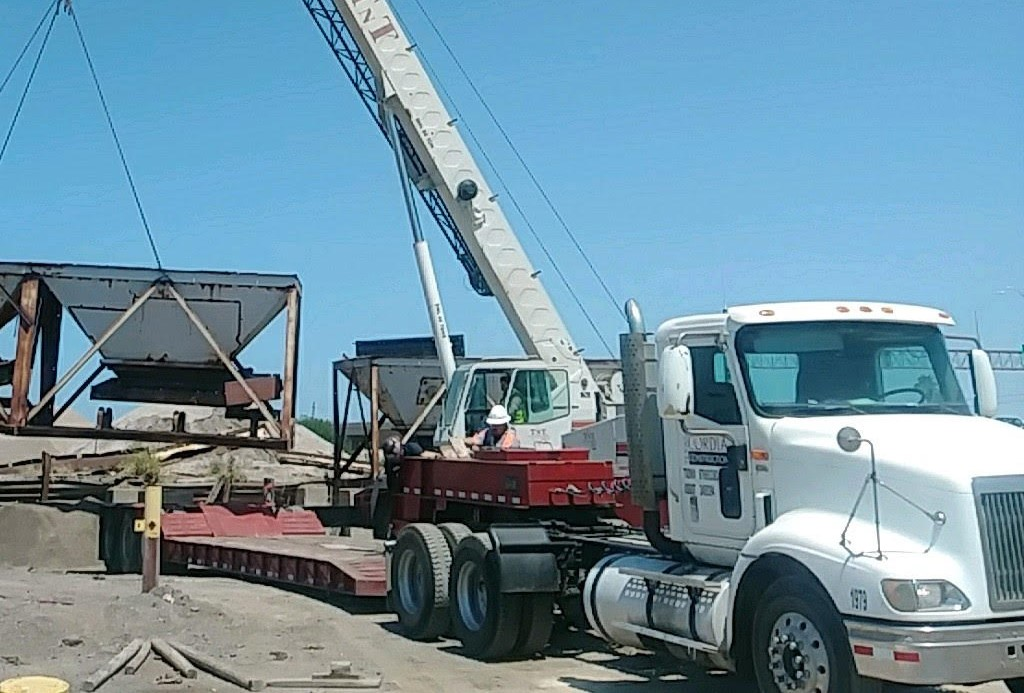 After receiving its appropriate permits, Texas Cordia began bringing equipment to the location of its new plant.