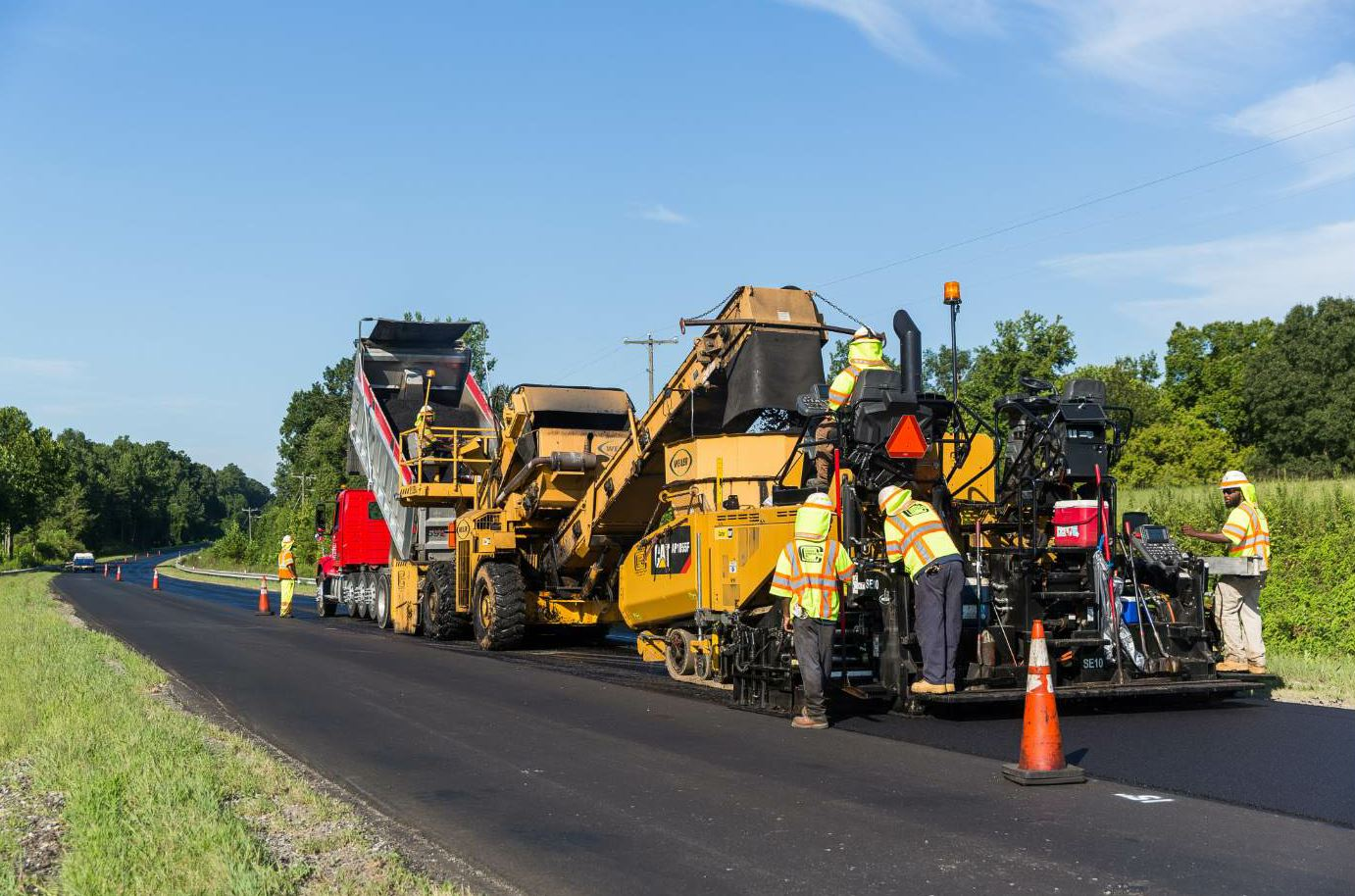 Around 85 percent of the mix Colony produces goes to its own paving crews.