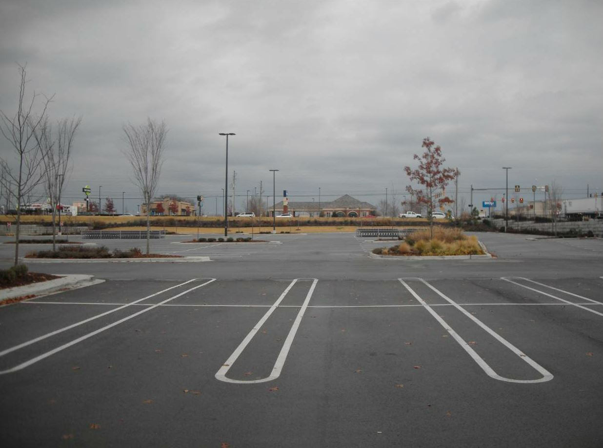 At the Costco in Tulsa, the Dunham's crew placed 11.5 inches of new asphalt pavement.