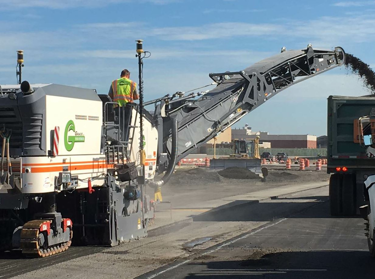 3D milling for the JFK taxiway project resulted in numbers the likes of which Port Authority officials had not seen before. Grace's crew consistently milled to within ± .5-inch spec on 100 percent of shots taken.