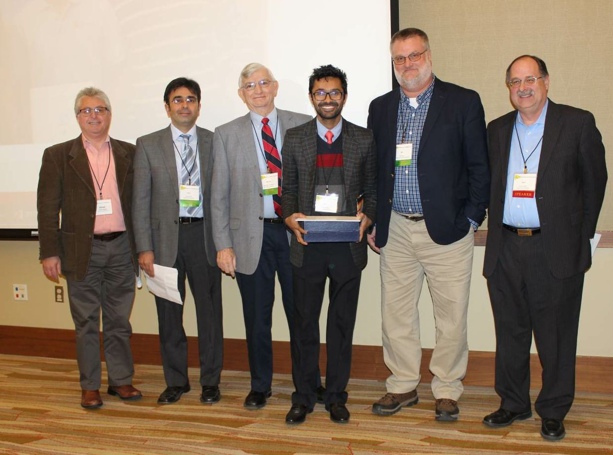 Doctoral Student Punit Singhvi received the Marshall Thomson Student Research Award for his research on asphalt and pavement preservation techniques, as well as his contributions to the development of the I-FIT protocol, which you can read about in the October issue's Mix It Up department.