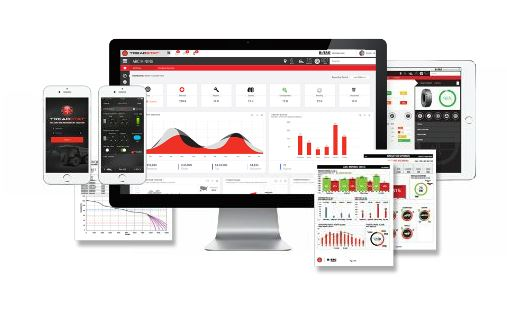 Tire and rim management platforms analyzed and presented data in an actionable by compiling tire performance data into customizable dashboards. Photos courtesy Bridgestone Americas Tire Operations.