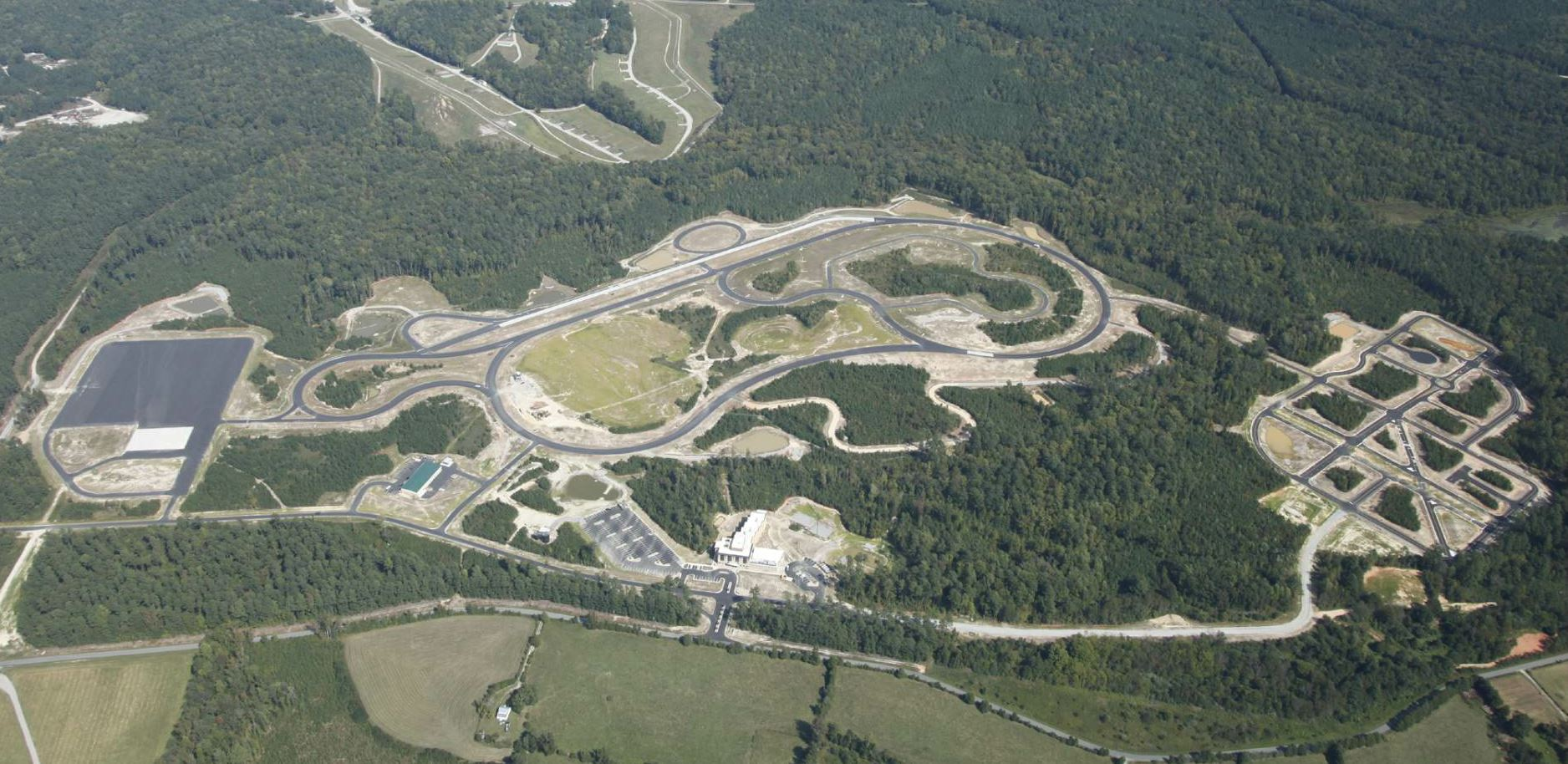 "Colony recently completed a driving track for the Virginia State Police to use in its training program. ""It's almost like a race course,"" Claud said. ""They use it to train police for high speed chases."""