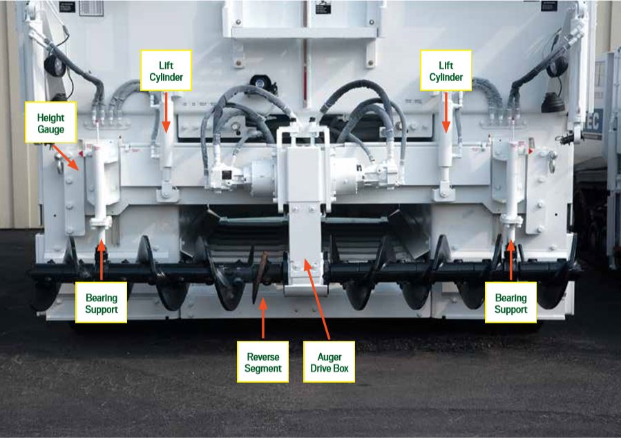 Study the auger components. Image courtesy Roadtec Inc., Chattanooga.