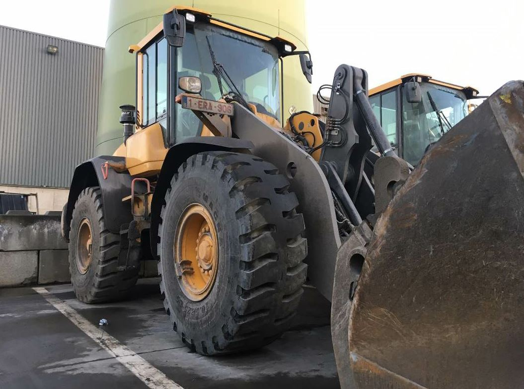 The MA10 tyre on a wheel loader. Photo courtesy Magna Tyres