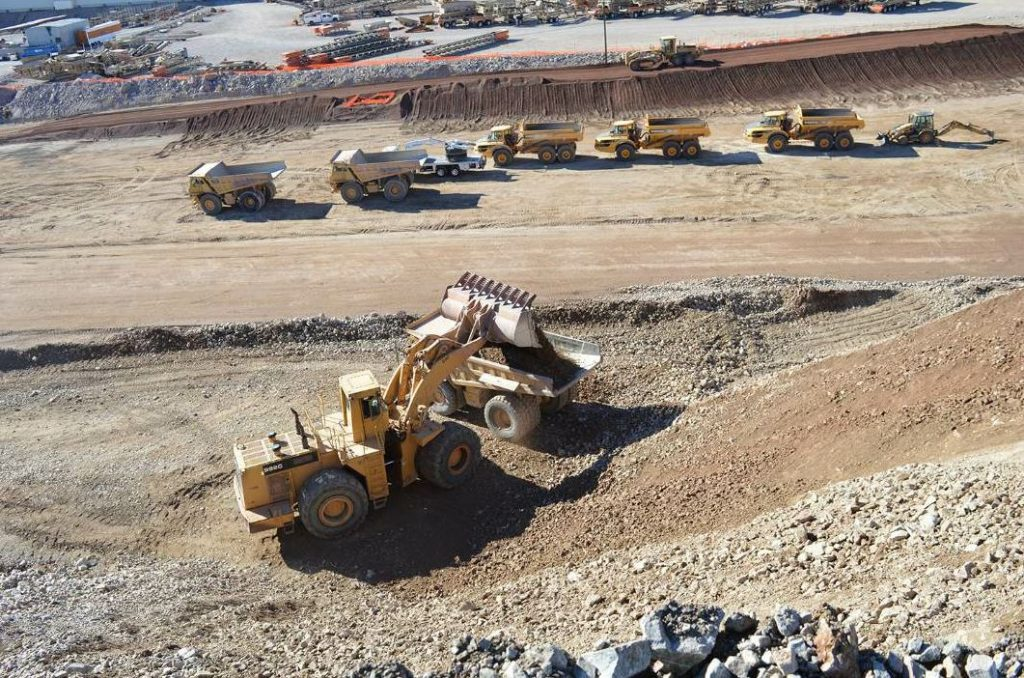 The first section of I-11 required 8.2 million cubic yards of excavation.
