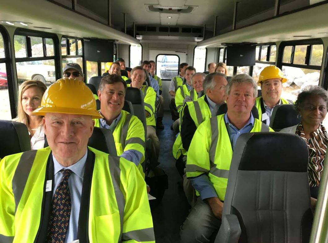 October 2018, Wiregrass Construction Company and Dunn Construction collaborated on a tour of an asphalt plant and the project to widen I-65 south of Birmingham for Alabama state lawmakers.