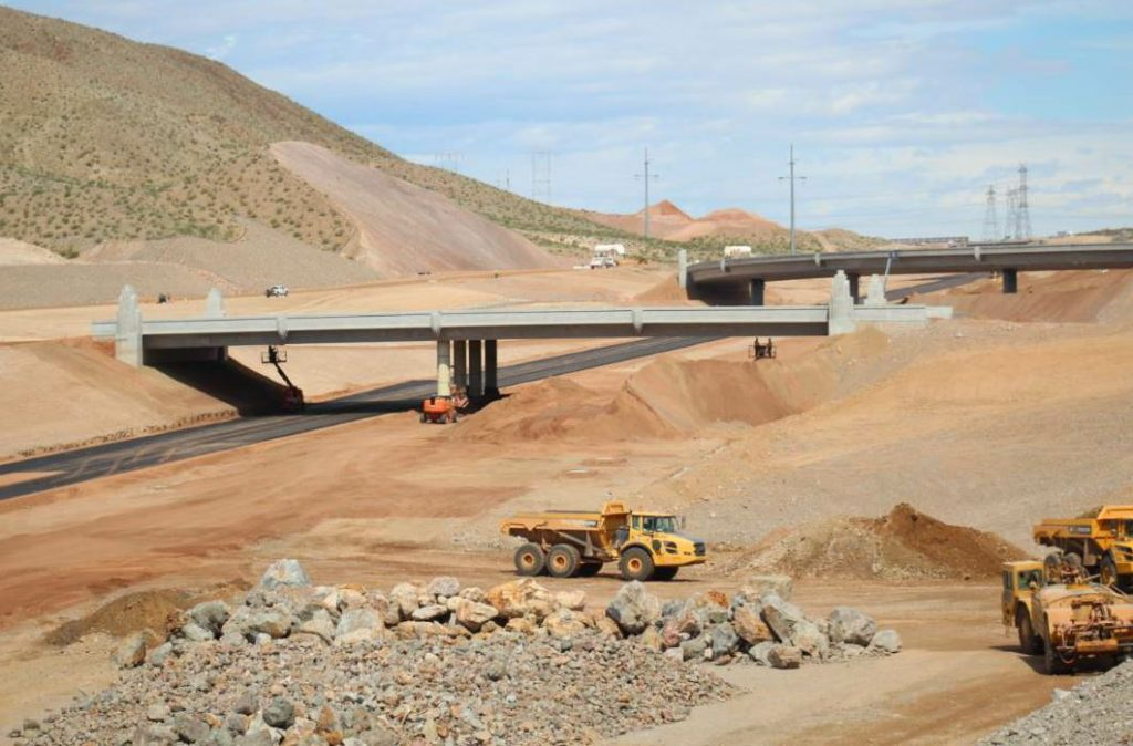 The first segment of I-11 included the construction of 17 bridges.