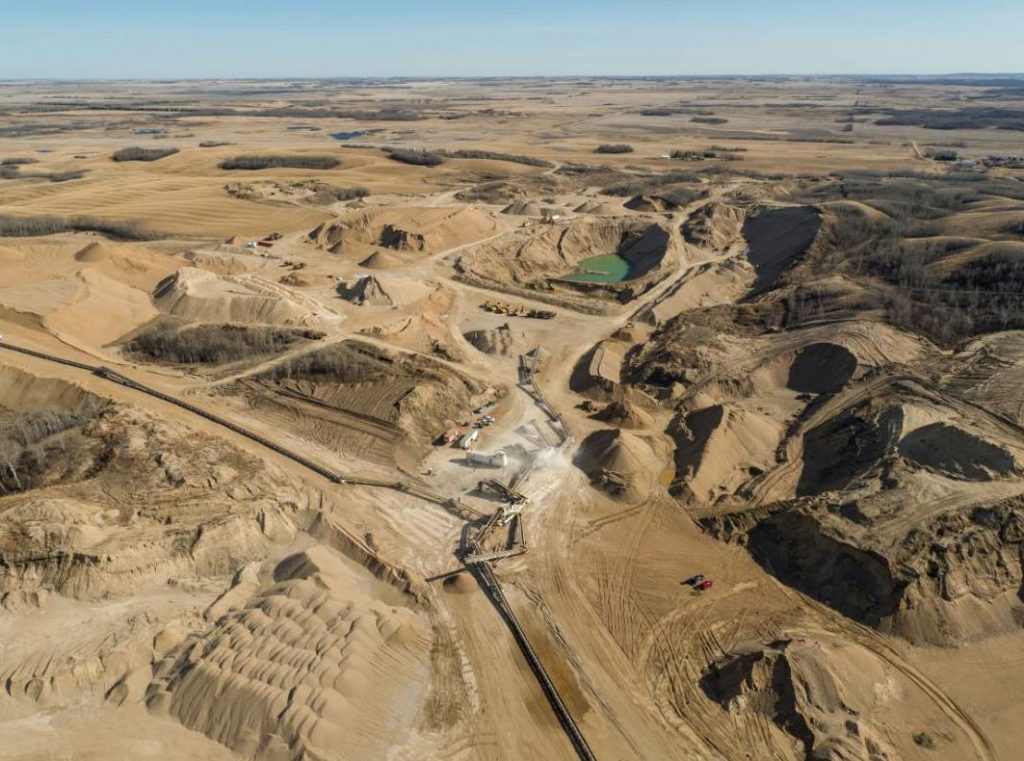 Big Boy quarry is one of five quarries Lonesome Prairie owns. The 100-foot-deep pit sharply contrasts others in the region that average 10- to 30-foot depths.