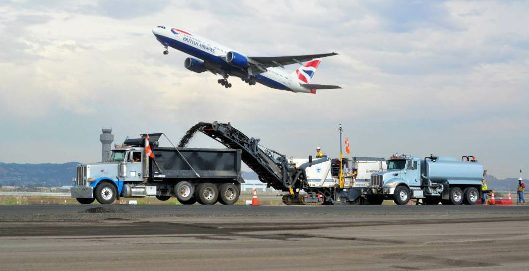 On Runway 12-30, the extremely dense, FAA mix had been compacted even further by years of airliner landings.