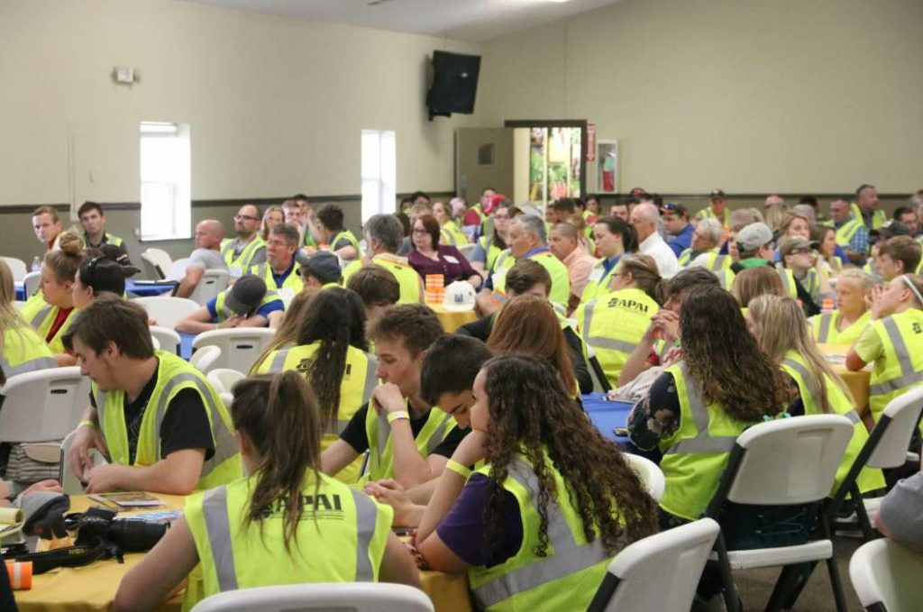 In May 2018, APAI held #Ag2Asphalt at the FFA Leadership Center in Trafalgar, Indiana. APAI producer members funded the paving of the new parking lot, and FFA brought in approximately 250 high school students to observe the paving operations and learn about career opportunities in our industry.