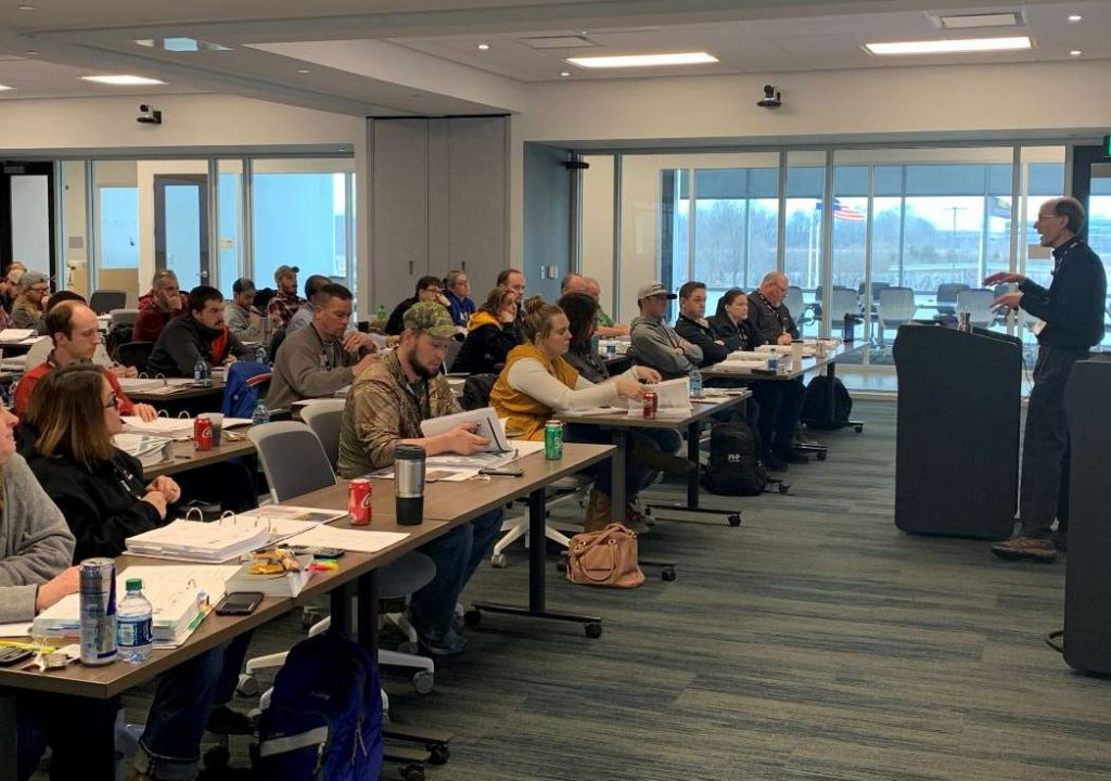 Students attend Indiana Certified Asphalt Technician (ICAT) program, a certification program put on jointly by APAI and INDOT.