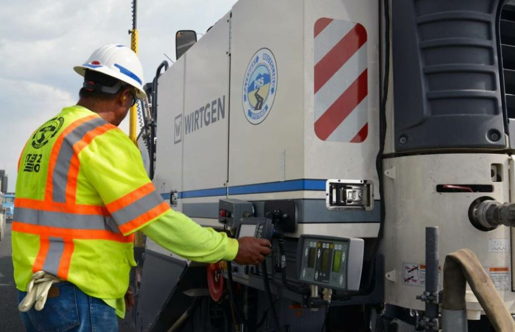 """""""The system received a radio signal, sent that signal to the LevelPro, which converted it to Wirtgen's 'language' and made the appropriate grade changes based on the elevation it's requiring to be at,"""" Kurt Eddy said."""