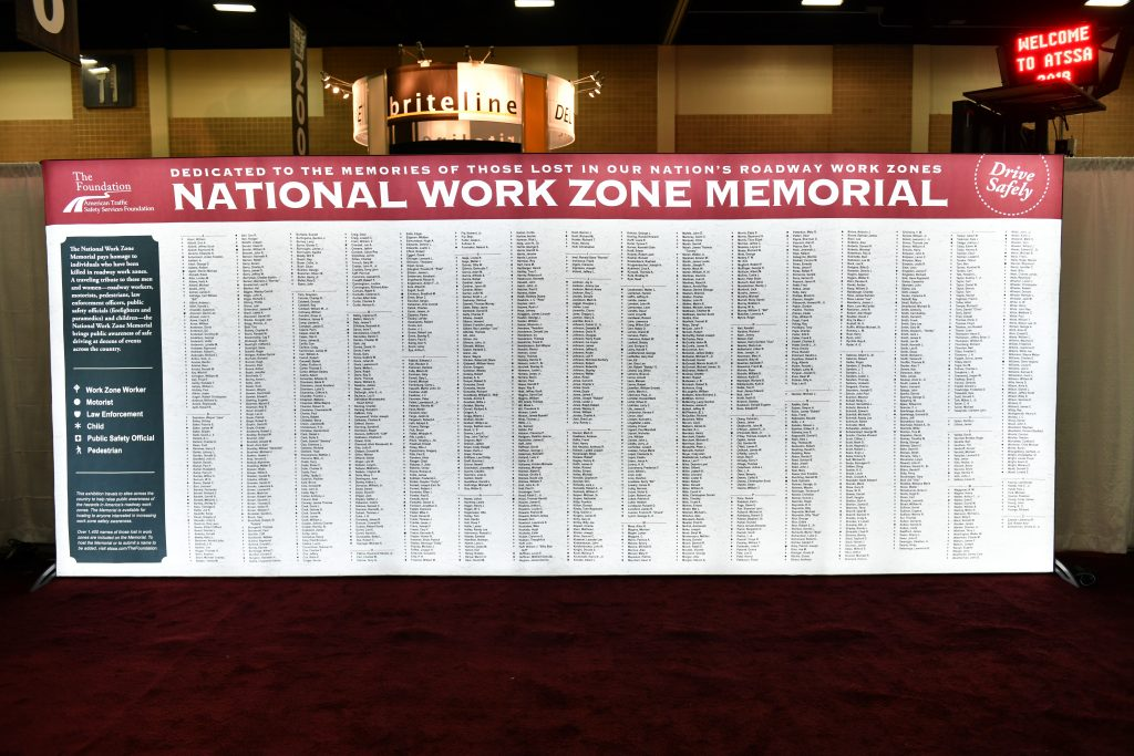 View the sidebar below this article to learn where you can find the National Work Zone Memorial in 2019.