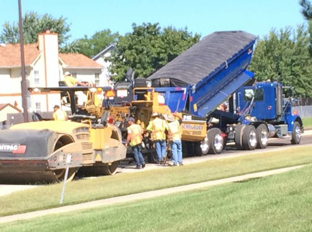 By the end of 2005, Schroeder Asphalt had 32 subdivisions for eight major builders, paving about 4,000 to 5,000 driveways a year. But they weren't resting on that success. They took on public work and more to diversify.