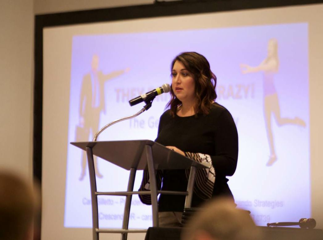 Pauley speaks at APAI's 2018 Winter Conference.