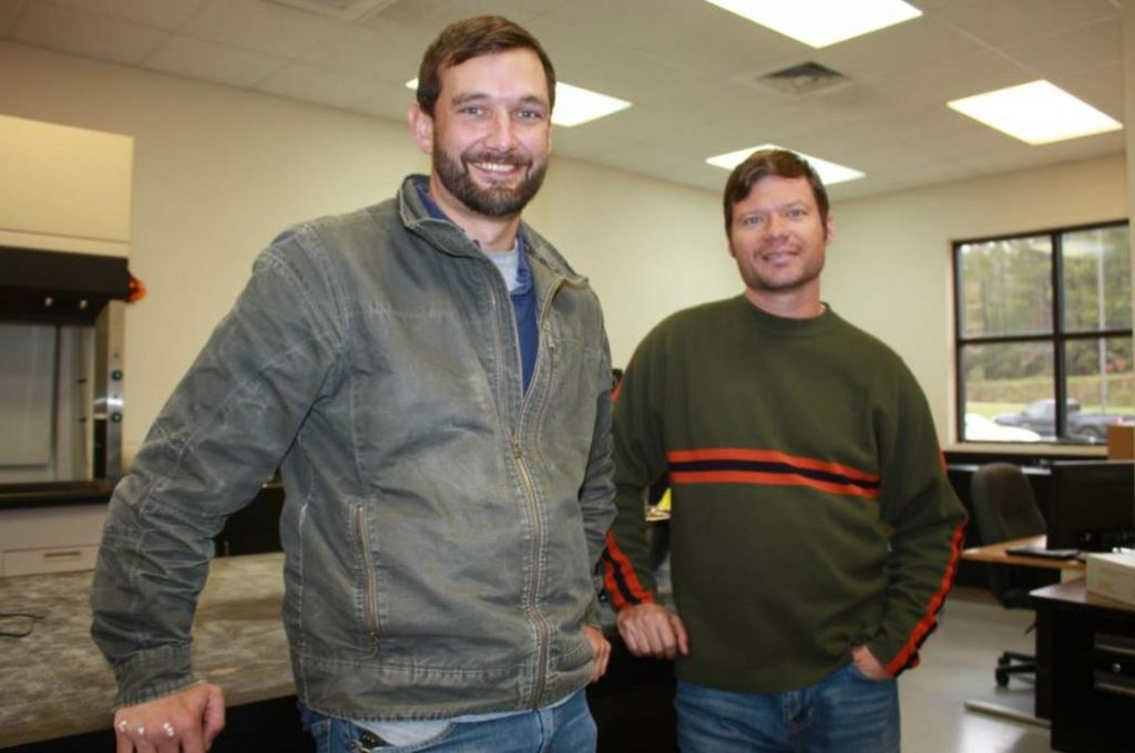 From left, Grant Julian, assistant research engineer, and Jason Nelson, test track manager at NCAT