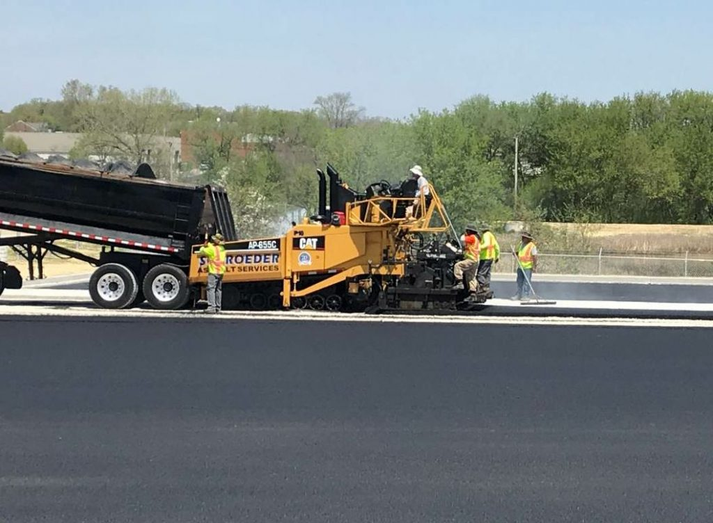 The company has at least seven crews to schedule during a 24-hour period. The three paving crews consist of a mainline crew on streets, a parking lot crew and a patch crew.