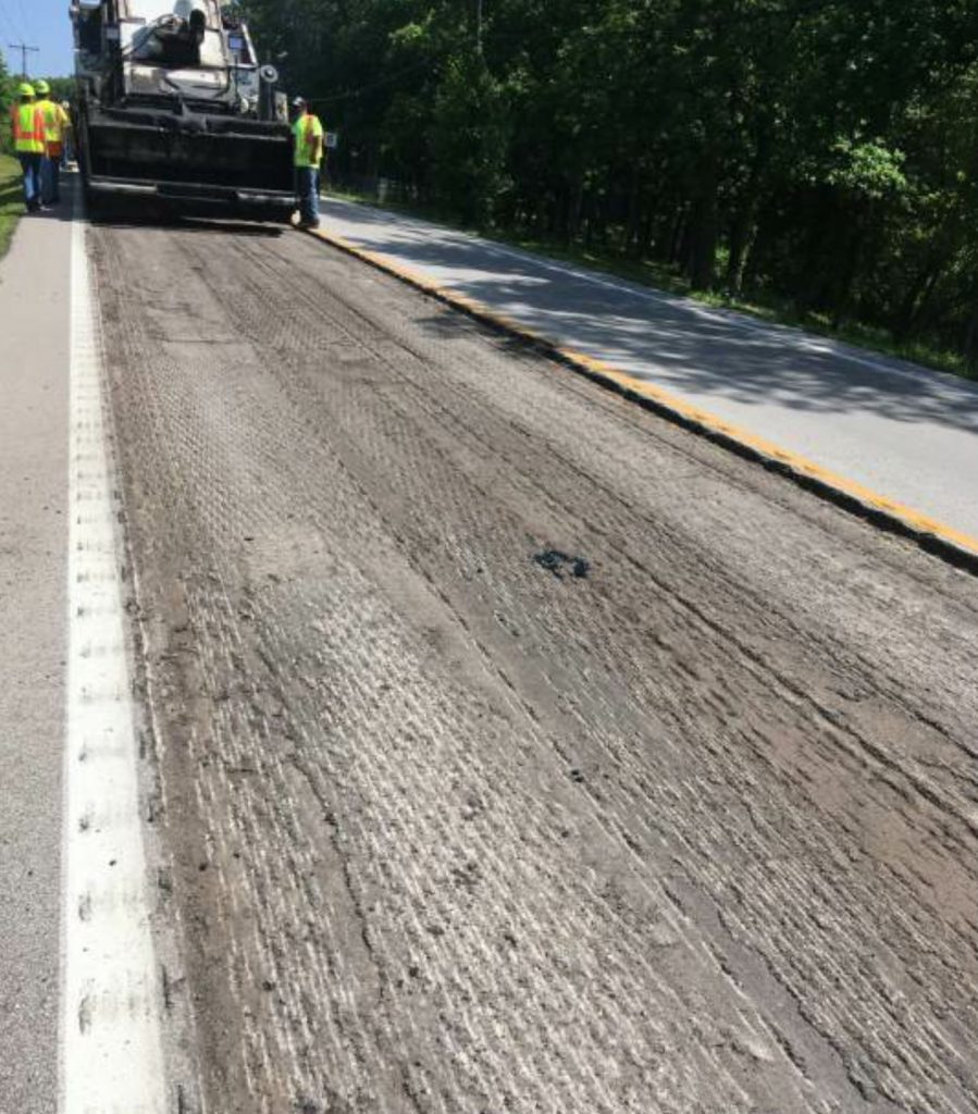 "N.B. West's Steve Jackson explained, ""We targeted the areas where we were going to place WinterPave, then put a regular mix on the areas around it."""