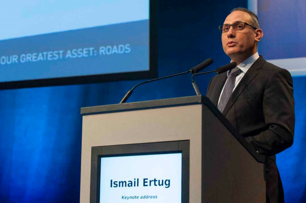 MEP (Member of the European Parliament) Ismail Ertug delivers the keynote address at E&E Congress 2016. Ertug serves on the European Parliament's Committee on Transport and Tourism.