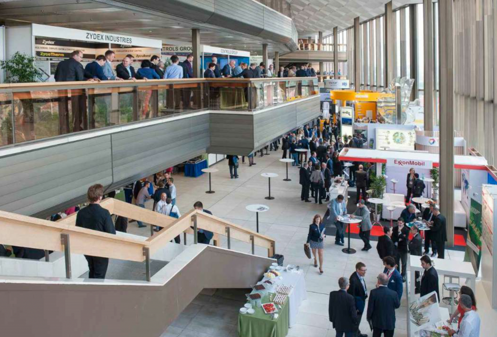 E&E Congress has a technical program, as well as a large exhibition (seen here), and typically attracts 1000 participants.