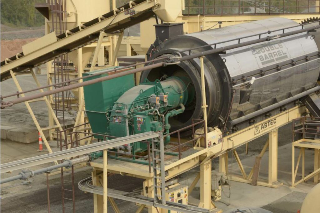 The Astec Phoenix burners achieve ultra-low emissions performance by employing best fuel-air mixing technology. This is the Phoenix Talon, installed. Photo courtesy Astec Inc.
